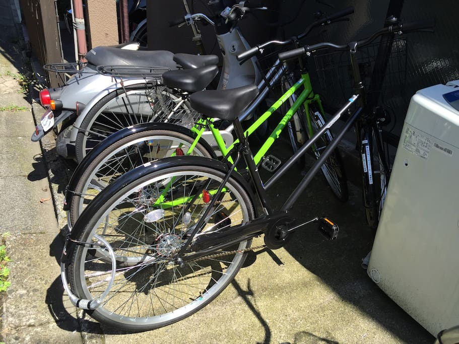 I prepar 2 bicycles for you.You can use during your stay.