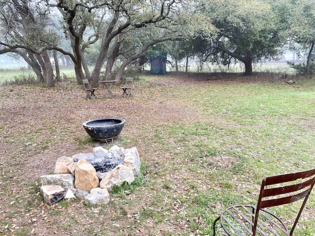 the Little Rock Wall campsite on the 1873 Ranch