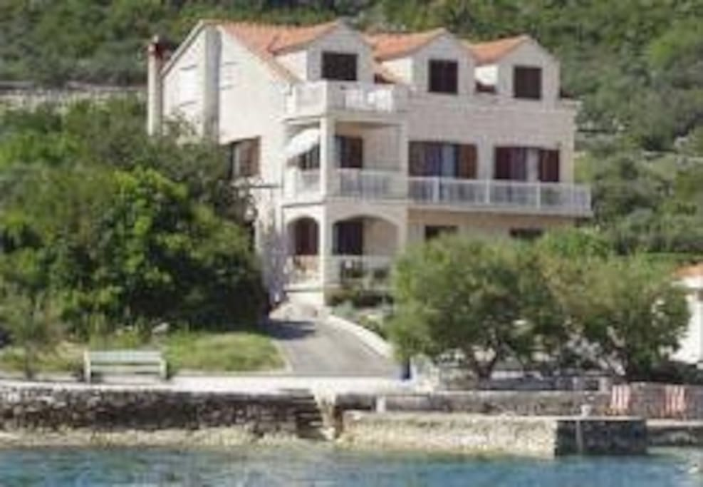 View of the house from the sea