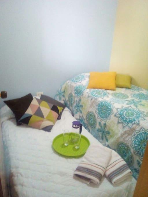 Alcoba 1 x 2 (cama nido extendido)