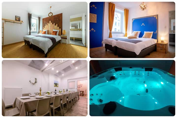 Le Zythogite : 23 pers, 10rooms jacuzzi billard