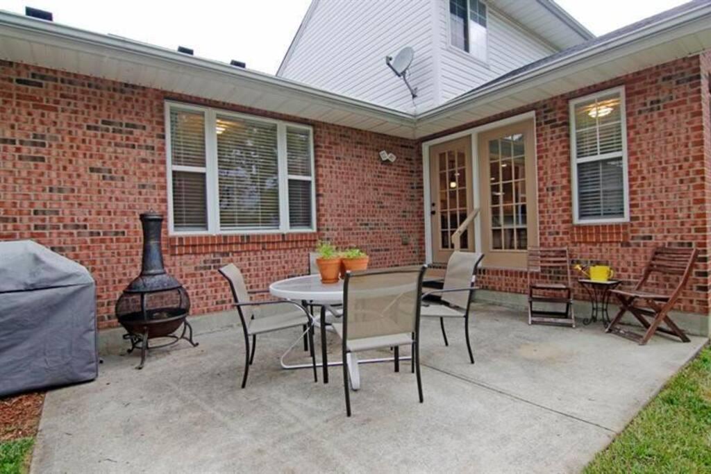 Secluded backyard patio