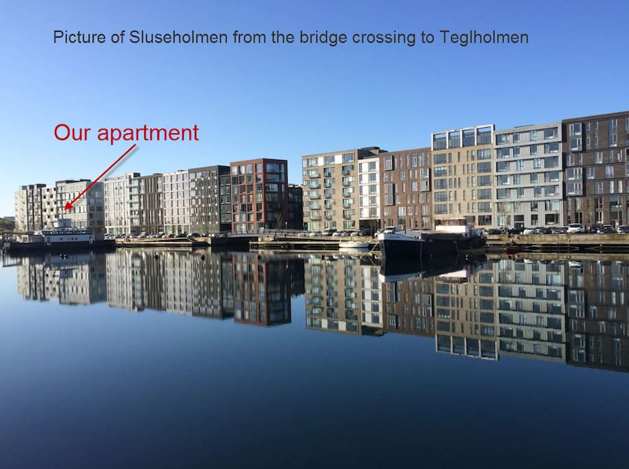 Picture of the canal city Sluseholmen