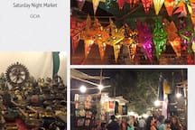 Saturday night market - just a few kilometers from our house.