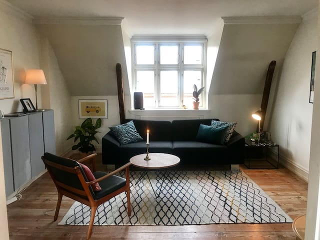 Charming loft apartment in beautiful Frederiksberg