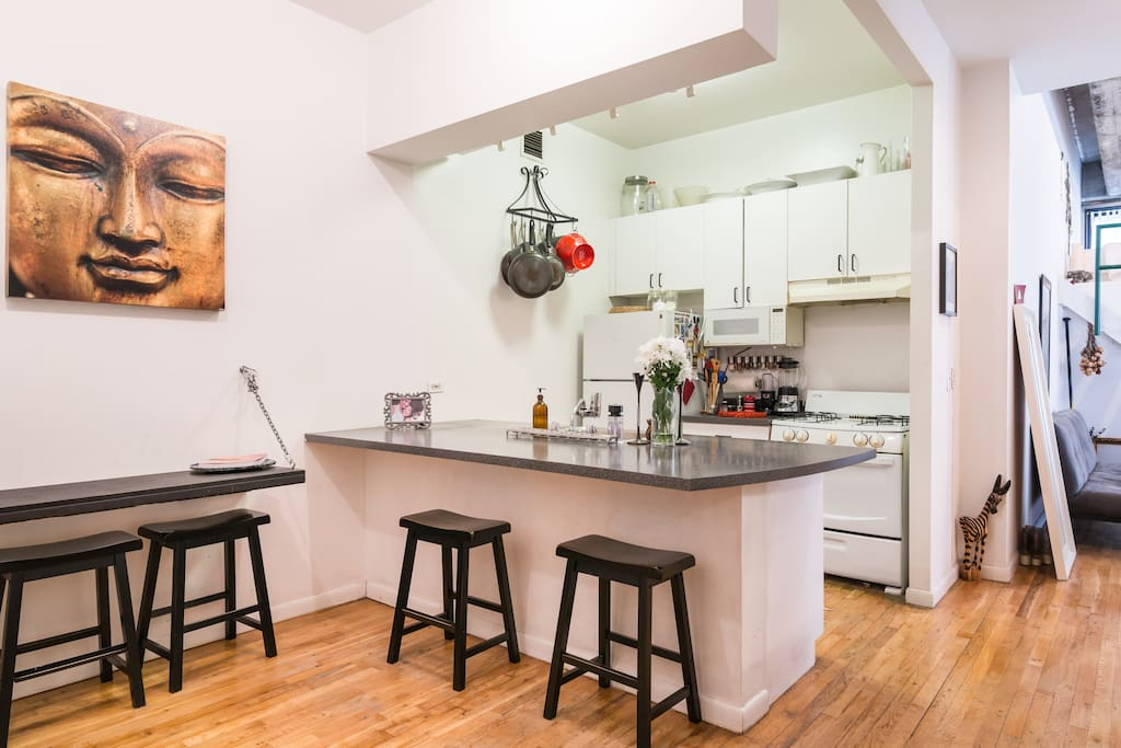 Exceptionally large NYC Kitchen.