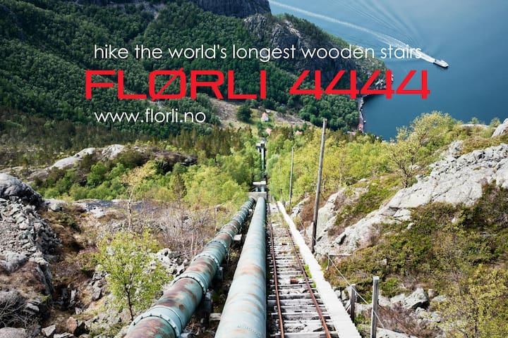 Come to Flørli to hike the Flørli Stairs with 4444 steps