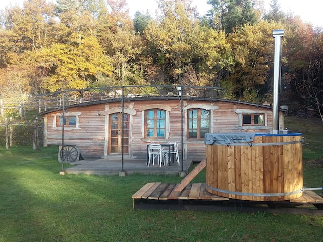 roulotte de fusta cara al Pirineu - Sainte-Croix-Volvestre - Outros