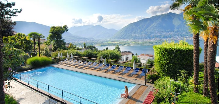 Studio with great view over the Lago Maggiore