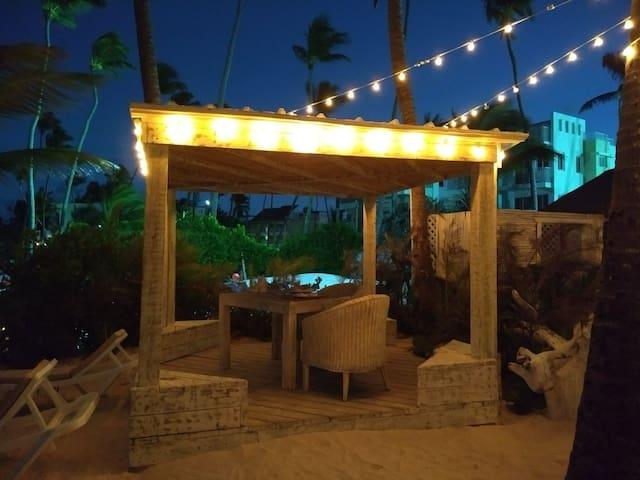Lio beach restaurant on beach, on my street, beautiful ambiance, good food