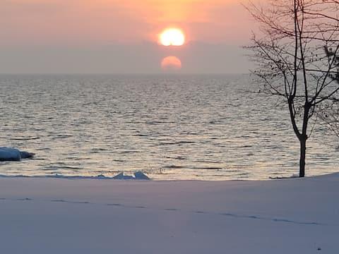 Bay Haven on Whitefish Bay Paradise Michigan Snow!