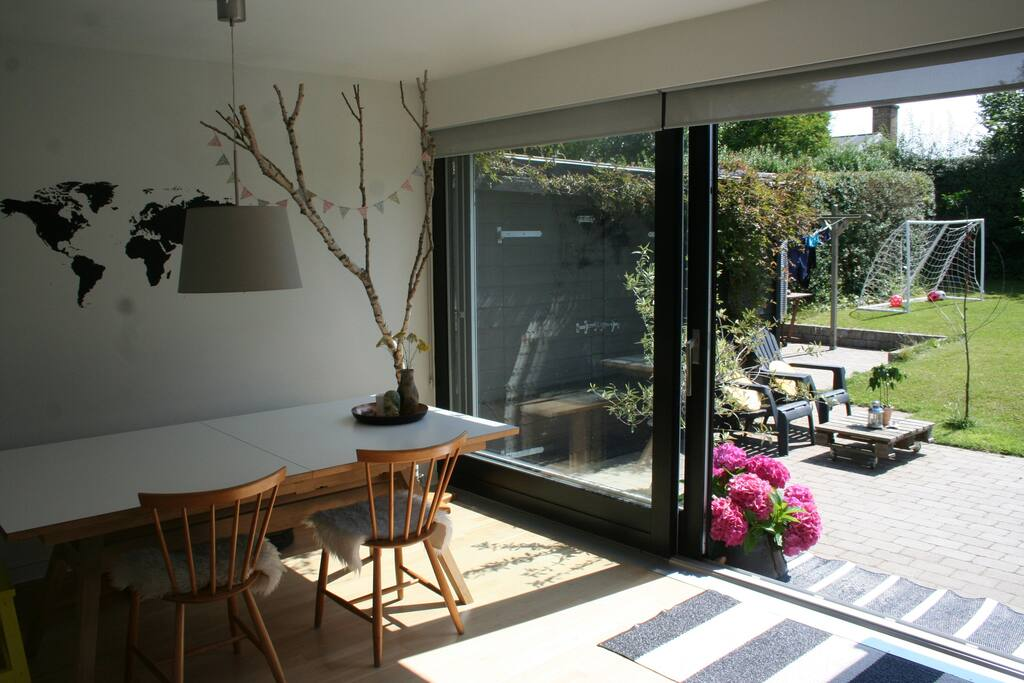Direct access from the dining room to the terrace