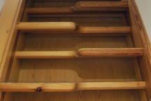 Treppe zur zweiten Eben mit dem Schlafzimmer