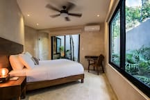 Bedroom 1 - Queen-size bed, Private Garden and En Suite Bathroom