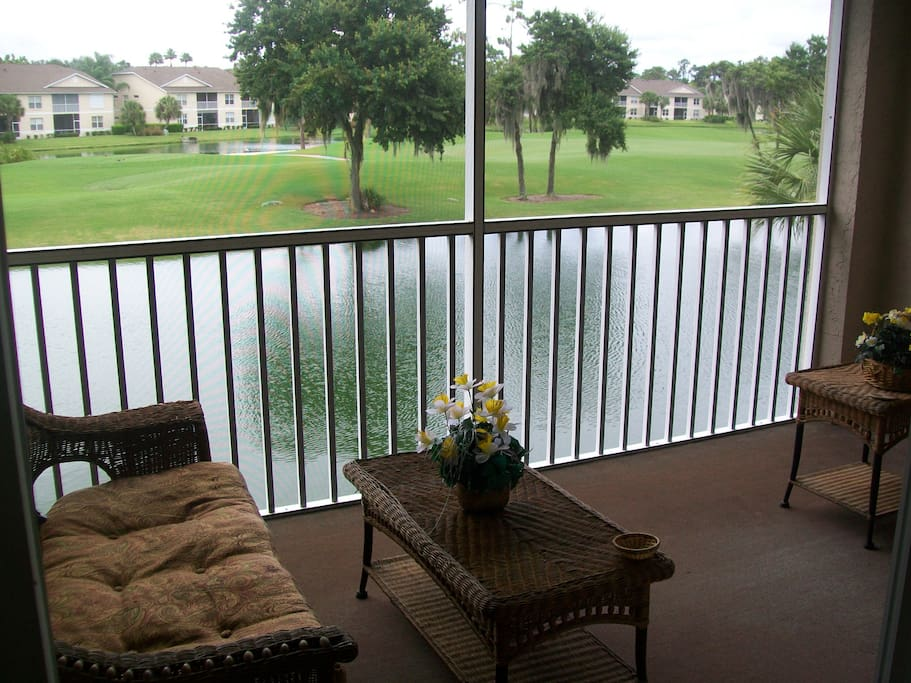 Relaxing view from the deck