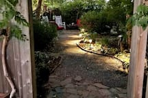 Day and night our private yard is a great place to relax or just hang out with family and friends. Fire pit and outdoor movies are available by request.