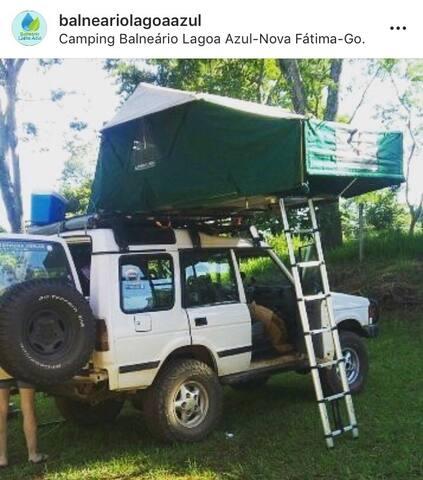 Área de camping para até 40 barracas 35 km de Gyn!