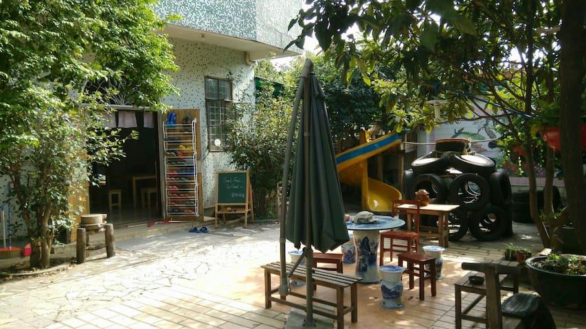 长洲岛深井码头附近的独立房间,独栋带小院,悠闲静谧满是生活味 - กวางโจว - บ้าน