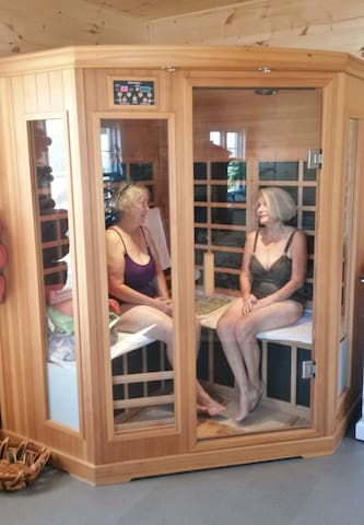 1 of 2 FAR Infra-red saunas, which have great health benefits.