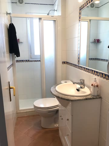 two bathroom with shower