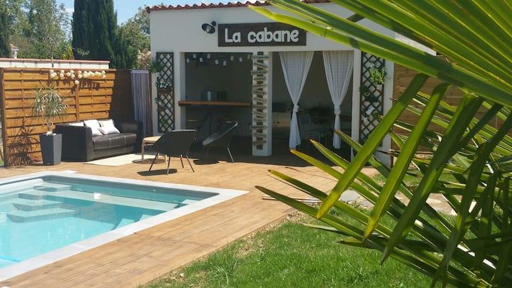 Villa climatisée, piscine privée, parc 2500 m2