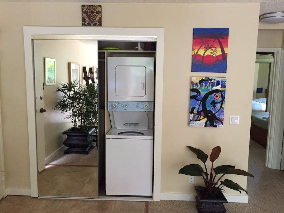 Very few condos in the entire community have a washer and dryer in the unit. The convenience  makes Your Paradise Destination one of the most desirable units for a vacation rental!