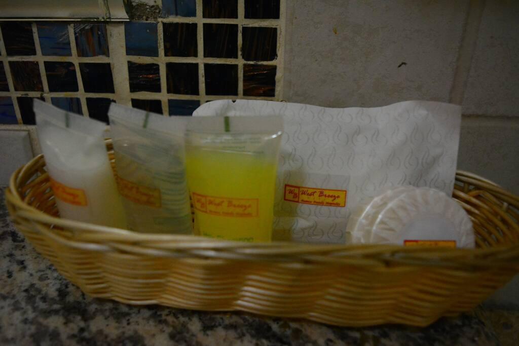 Bathing soap, Shower gel,shampoo gel and  body lotion.