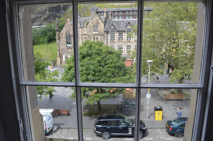 Grassmarket view from livingroom window
