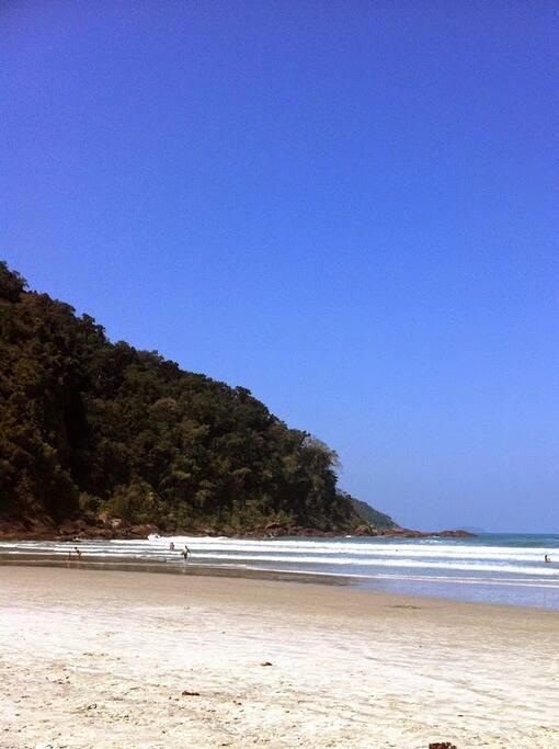 A praia!