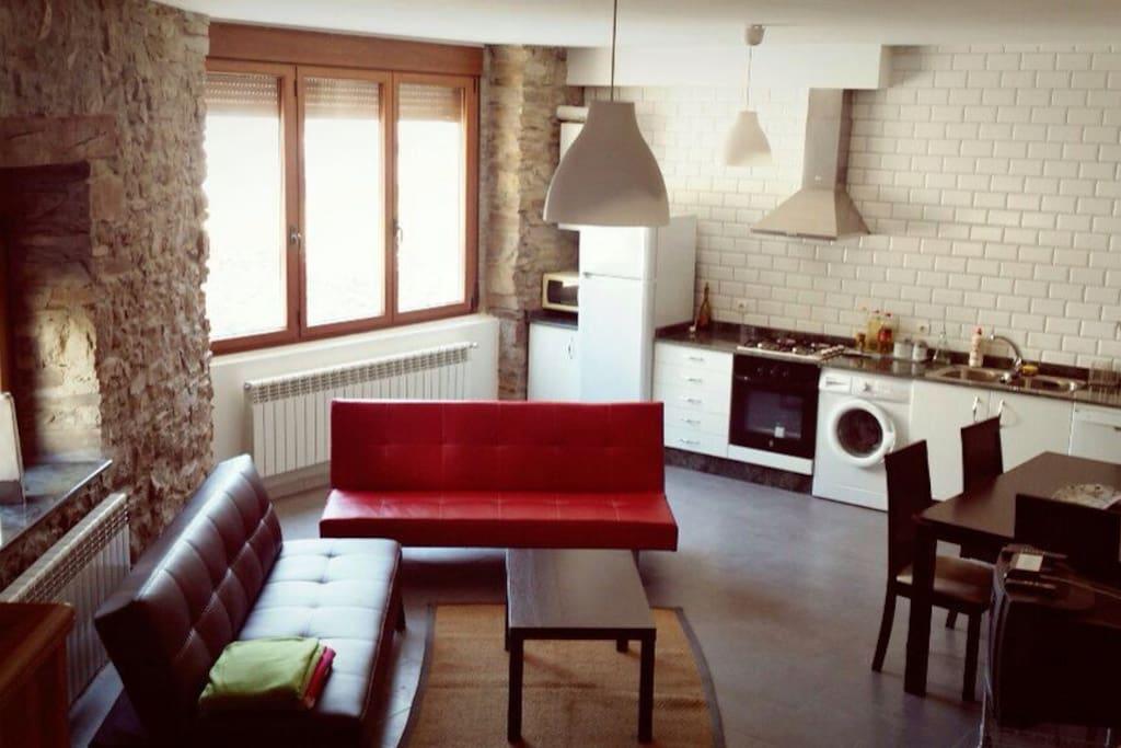 Cocina y salón
