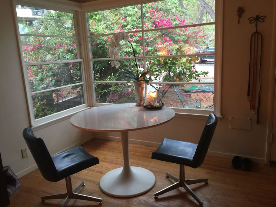 Dining area...table is larger and rectangular since this photo