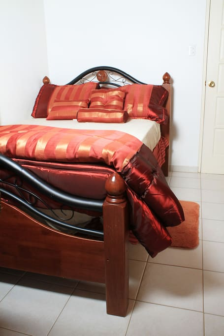 Comfortable full size bed perfect for a couple