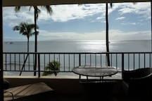 Spectacular view from our lanai.