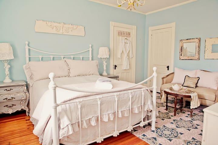 vintage chic nautical room - Schenectady - Pousada