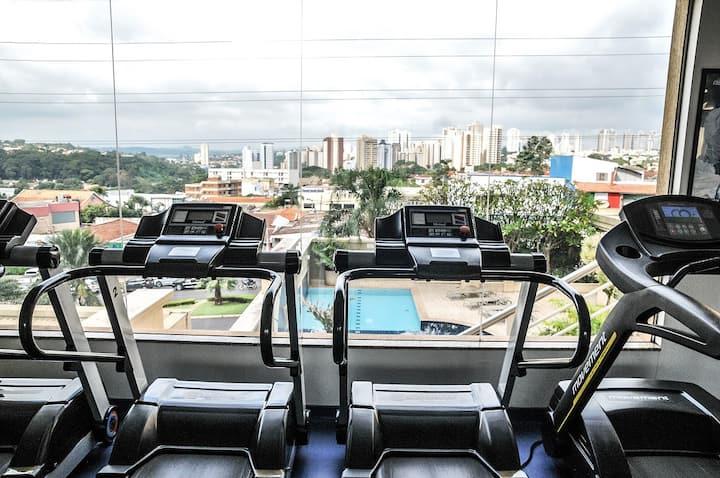 Quarto de Hotel no Araucaria Plaza S/ Taxa Extra