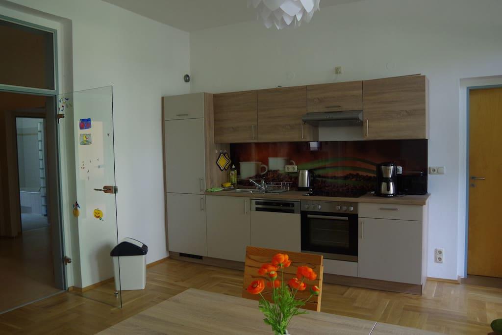 Ein Blick in die Küche.