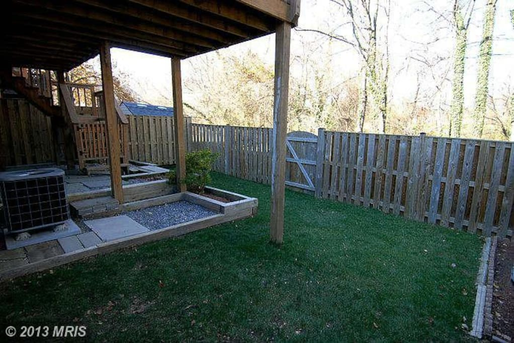 Private entrance from the basement bedroom to the yard