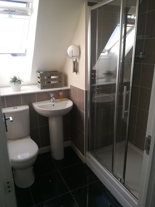 private en suite with large shower