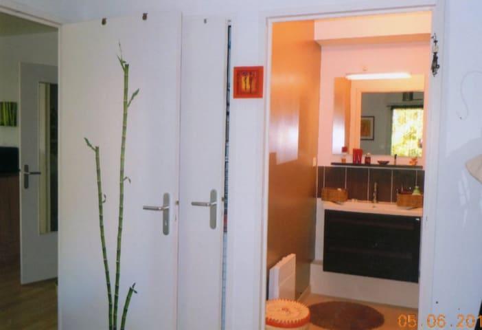 chambre avec salle d'eau privative - Mûrs-Erigné - Dormitório
