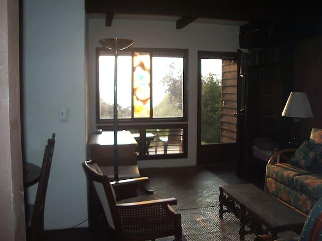 Living room, ocean view.