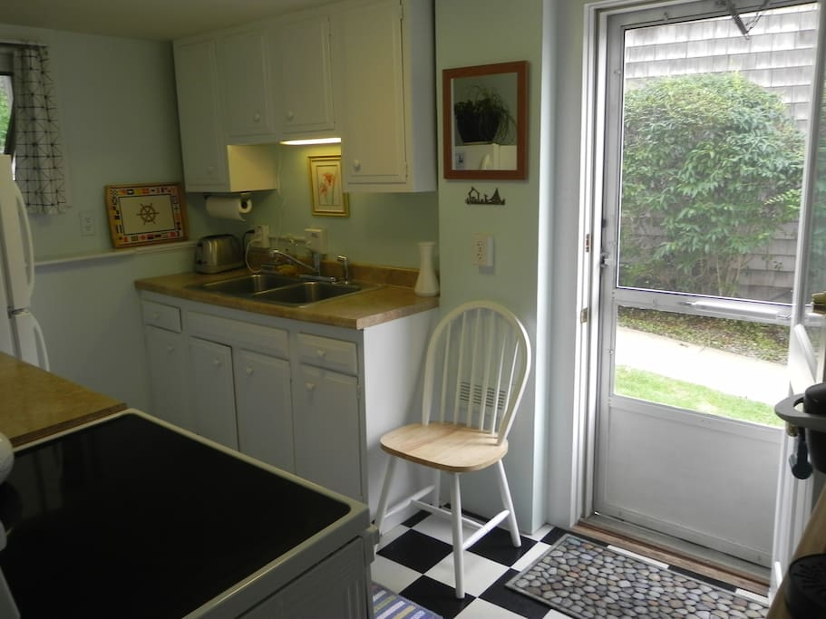 Freshly painted kitchen with new appliances