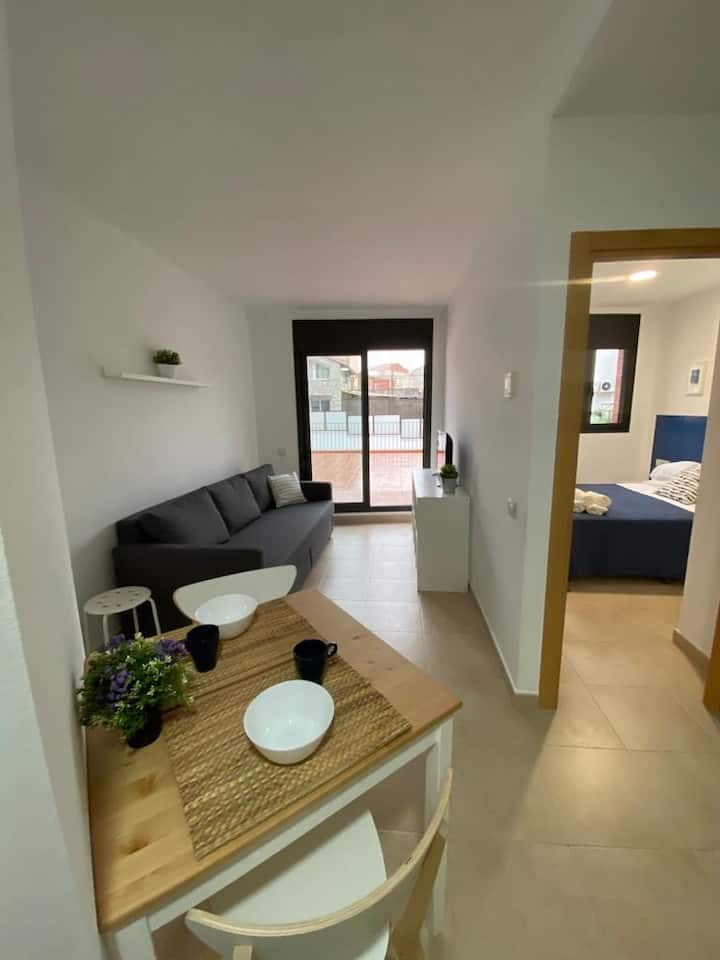 Apartamento con terraza en zona universitaria