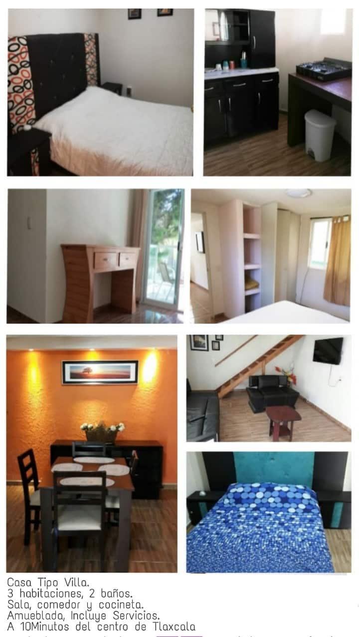 Casa Amueblada de 3 habitaciones