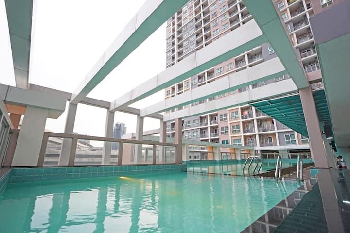 350m to MRT Bangson - Cozy 1BR apartment