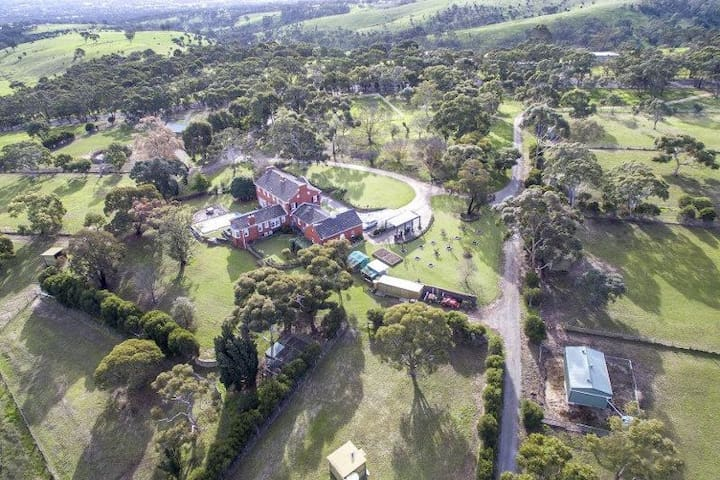 Aerial view to the part of this beautiful property