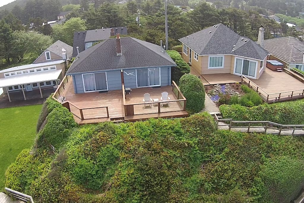 Drone view of Duplex A & B