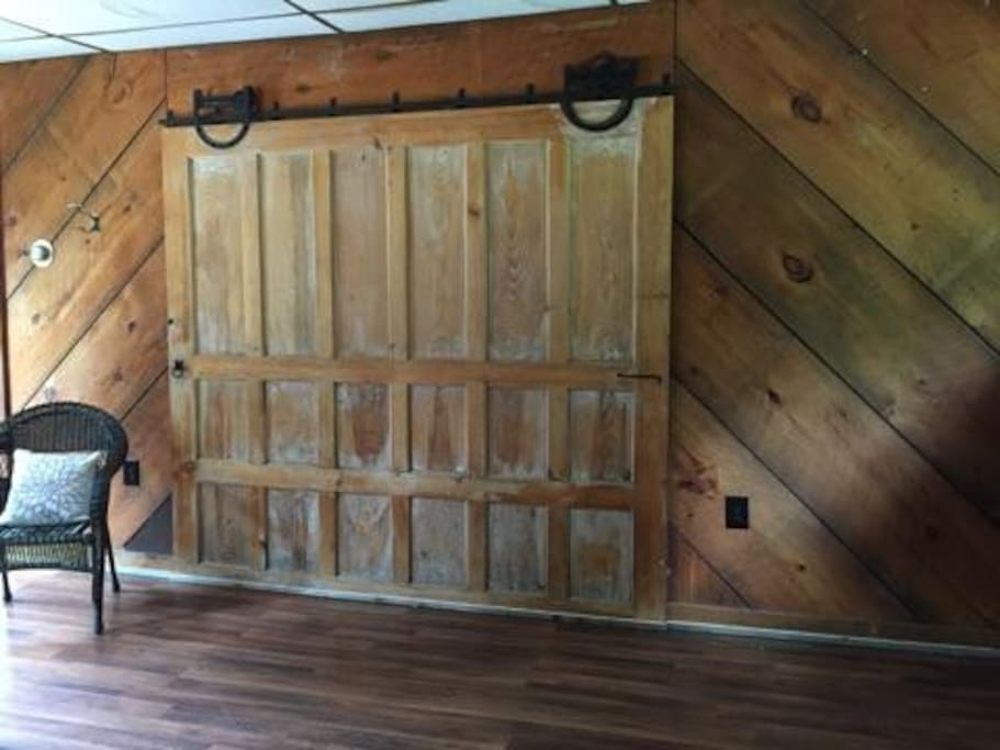 Still has the 125 year old rolling barn door.