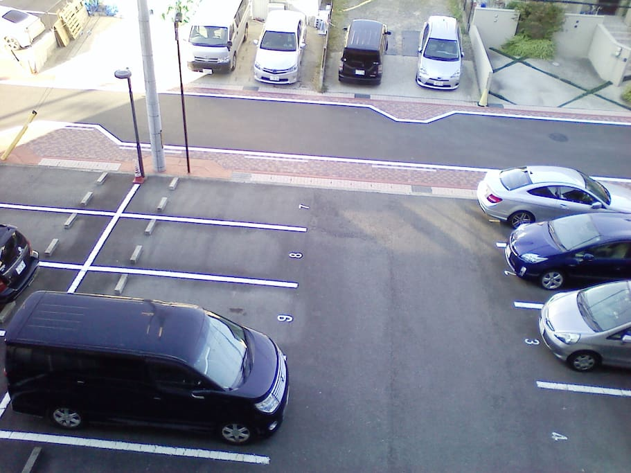 Free parking space is provided under the apartment