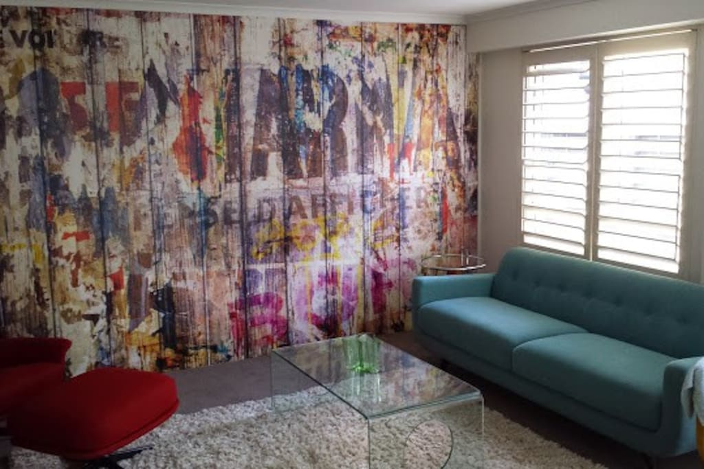 Living space feature wall