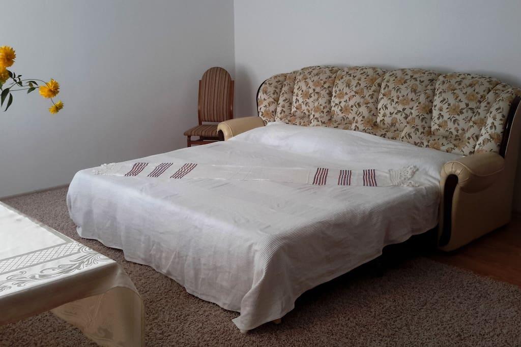 Chambre individuelle, possibilité de rajouter un lit pour enfant